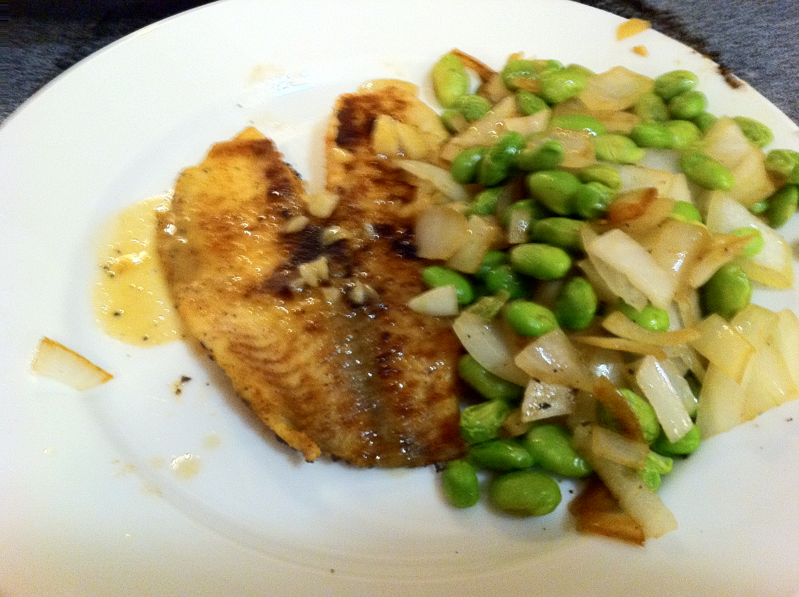 Tilapia and Edamame   Dispatches from the Castle