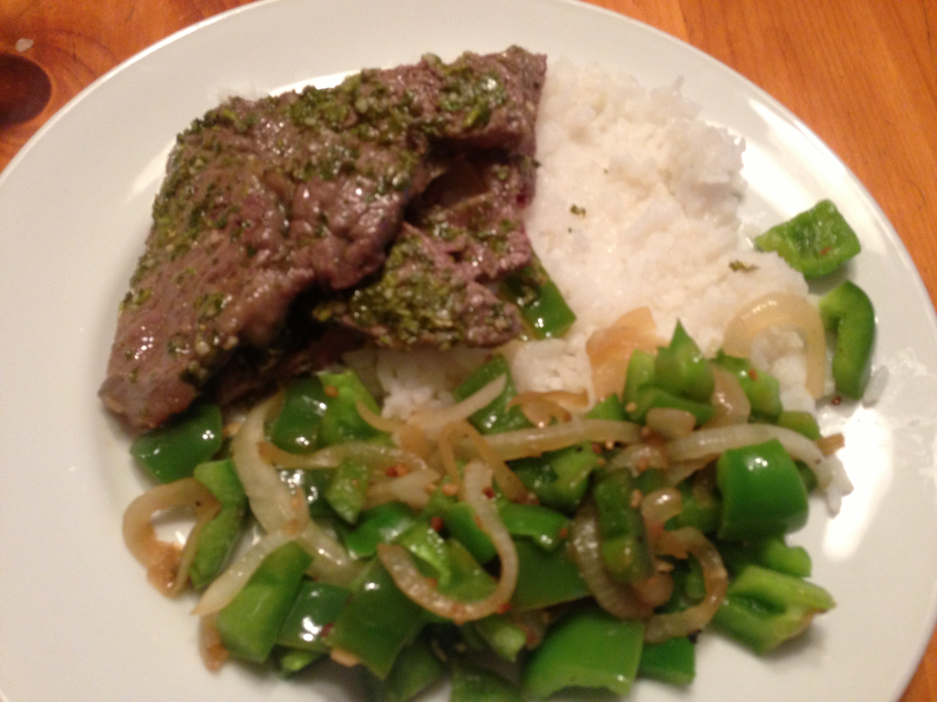 Steak with chimichurri sauce | Dispatches from the Castle