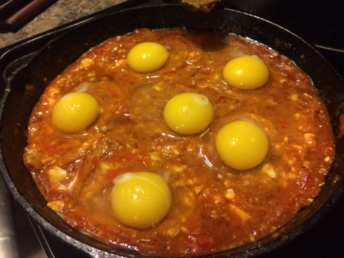 Shakshuka (just added eggs)