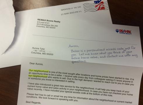 Snail Mail Marketing Fail